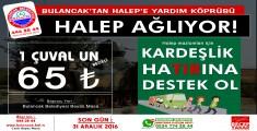Bulancak Belediyesinden Halep'e Yardım kampanyası