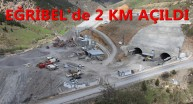 Eğribel Tünelinde 2 Km