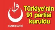 Türkiye'nin 91inci partisi Osmanlı Partisi