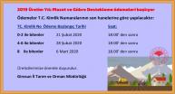 2019 Üretim Yılı Mazot ve GübreDestekleme ödemeleri